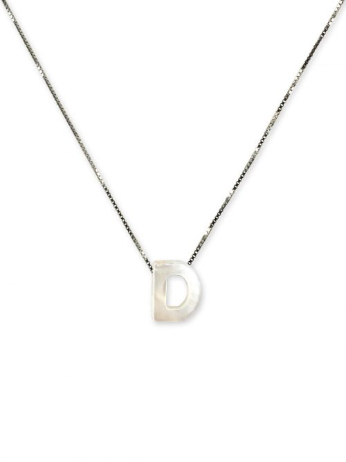 "PACIFIC PEARLS MAUNA LOA COLLECTION Letter ""D"" Mother-of-Pearl Pendant"