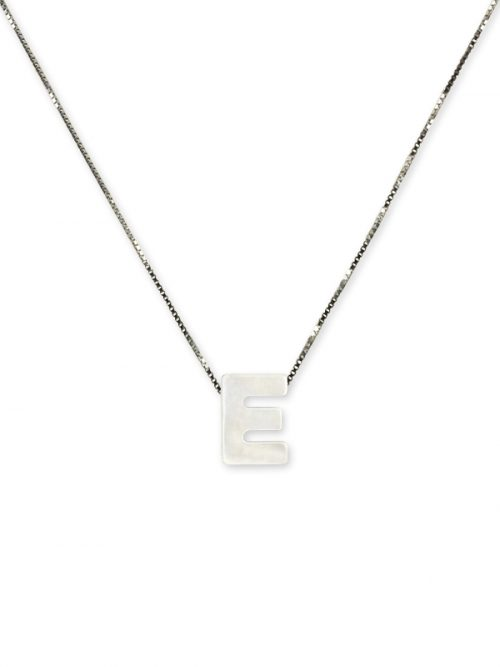"PACIFIC PEARLS MAUNA LOA COLLECTION Letter ""E"" Mother-of-Pearl Pendant"