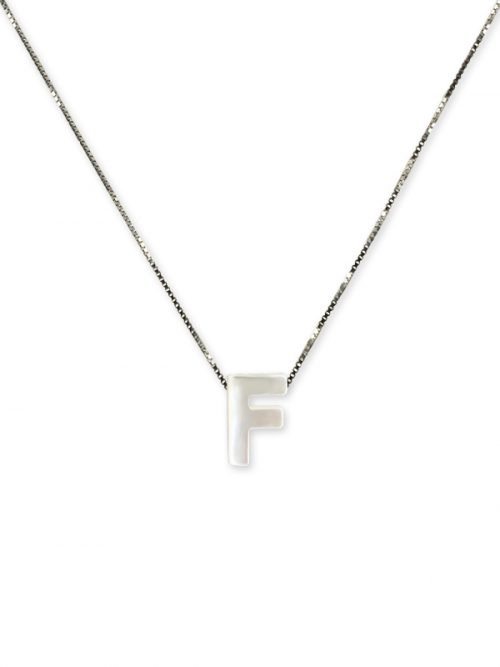 "PACIFIC PEARLS MAUNA LOA COLLECTION Letter ""F"" Mother-of-Pearl Pendant"