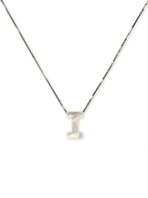 "PACIFIC PEARLS MAUNA LOA COLLECTION Letter ""I"" Mother-of-Pearl Pendant"