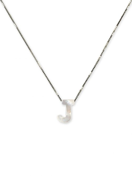 "PACIFIC PEARLS MAUNA LOA COLLECTION Letter ""J"" Mother-of-Pearl Pendant"
