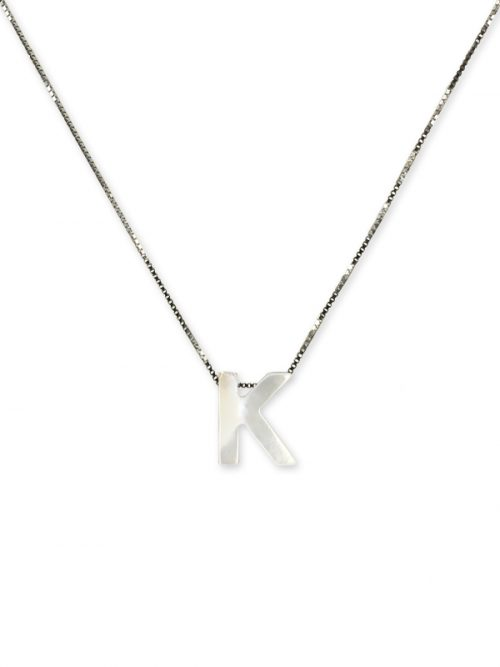 "PACIFIC PEARLS MAUNA LOA COLLECTION Letter ""K"" Mother-of-Pearl Pendant"