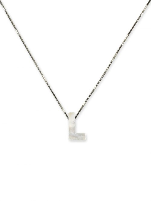 "PACIFIC PEARLS MAUNA LOA COLLECTION Letter ""L"" Mother-of-Pearl Pendant"