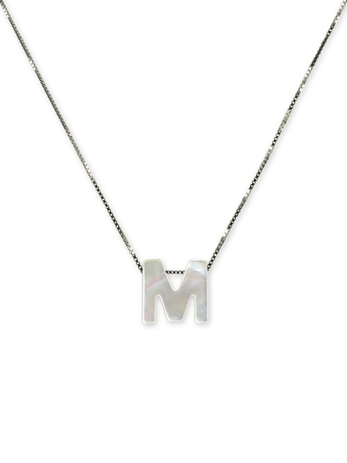 "PACIFIC PEARLS MAUNA LOA COLLECTION Letter ""M"" Mother-of-Pearl Pendant"