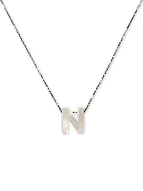 "PACIFIC PEARLS MAUNA LOA COLLECTION Letter ""N"" Mother-of-Pearl Pendant"