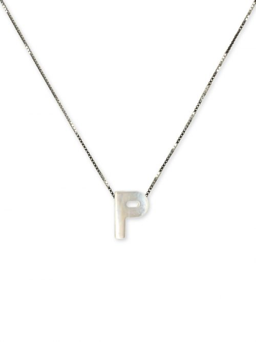 "PACIFIC PEARLS MAUNA LOA COLLECTION Letter ""P"" Mother-of-Pearl Pendant"