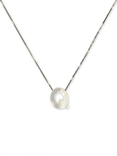 "PACIFIC PEARLS MAUNA LOA COLLECTION Letter ""Q"" Mother-of-Pearl Pendant"