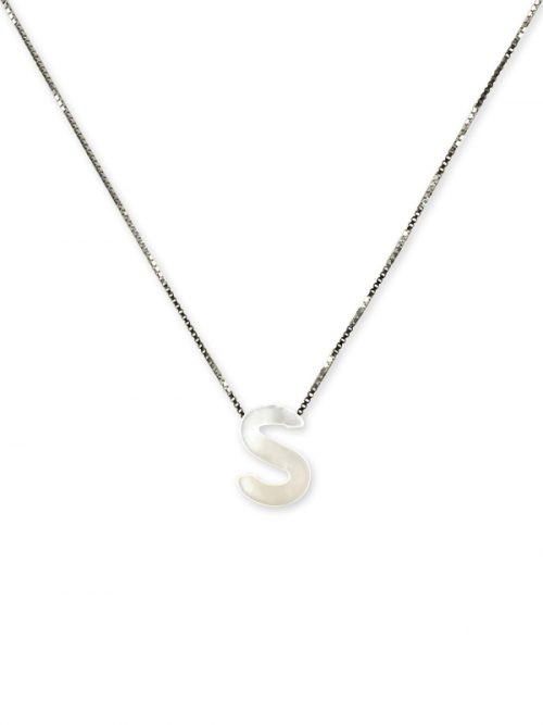 "PACIFIC PEARLS MAUNA LOA COLLECTION Letter ""S"" Mother-of-Pearl Pendant"