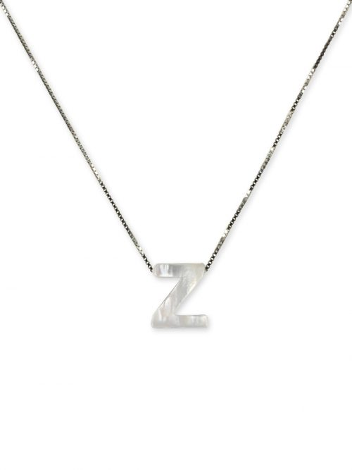 "PACIFIC PEARLS MAUNA LOA COLLECTION Letter ""Z"" Mother-of-Pearl Pendant"