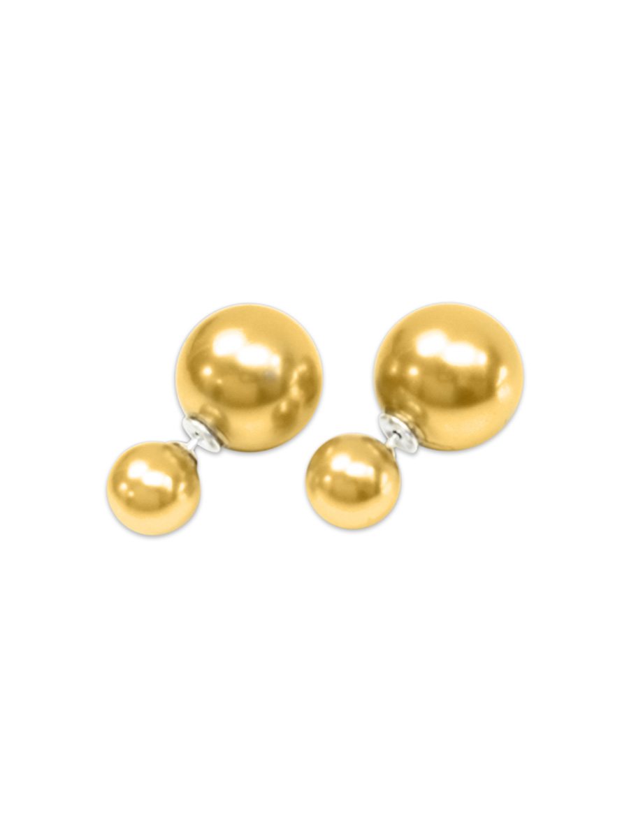 PACIFIC PEARLS OYSTER BAY COLLECTION Gold Mother-of-Pearl Reversible Stud Earrings