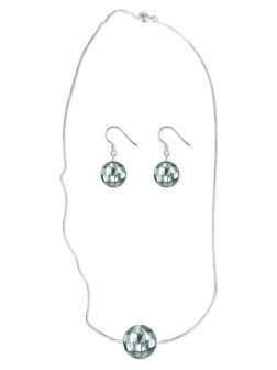 PACIFIC PEARLS SOUTH SEA COLLECTION 12mm Blue-Gray South Sea Mother-of-Pearl Pendant & Earring Set