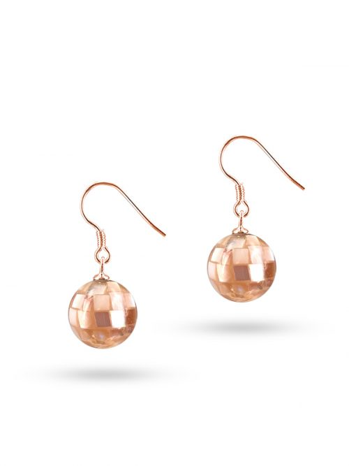 PACIFIC PEARLS SOUTH SEA COLLECTION 12mm Rose Gold South Sea Mother-of-Pearl Pendant & Earring Set