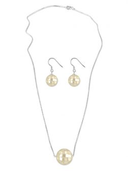 SOUTH SEA COLLECTION 12mm South Sea Mother-of-Pearl Pendant & Earring Set