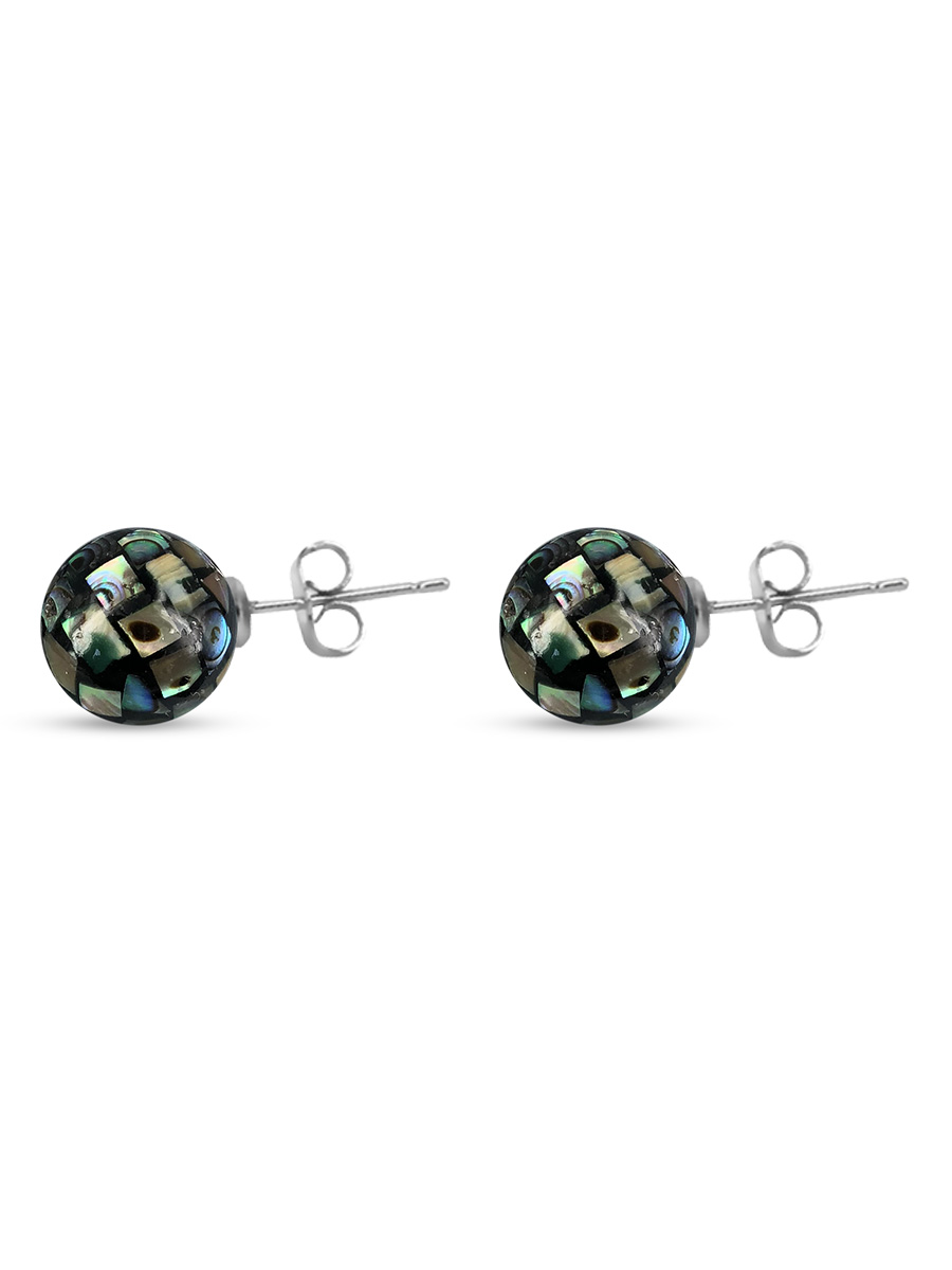 PACIFIC PEARLS NEW ZEALAND ABALONE COLLECTION 10mm Abalone Stud Earrings