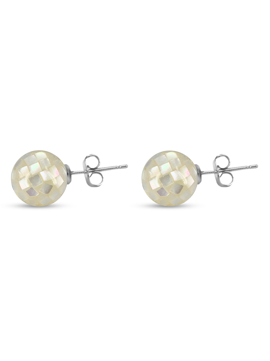 PACIFIC PEARLS SOUTH SEA COLLECTION 10mm South Sea Mother-of-Pearl Stud Earrings