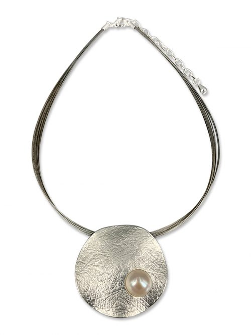 PACIFIC PEARLS WAIKIKI COLLECTION Dancing Kiana 18K White Gold Filled Designer Pearl Pendant