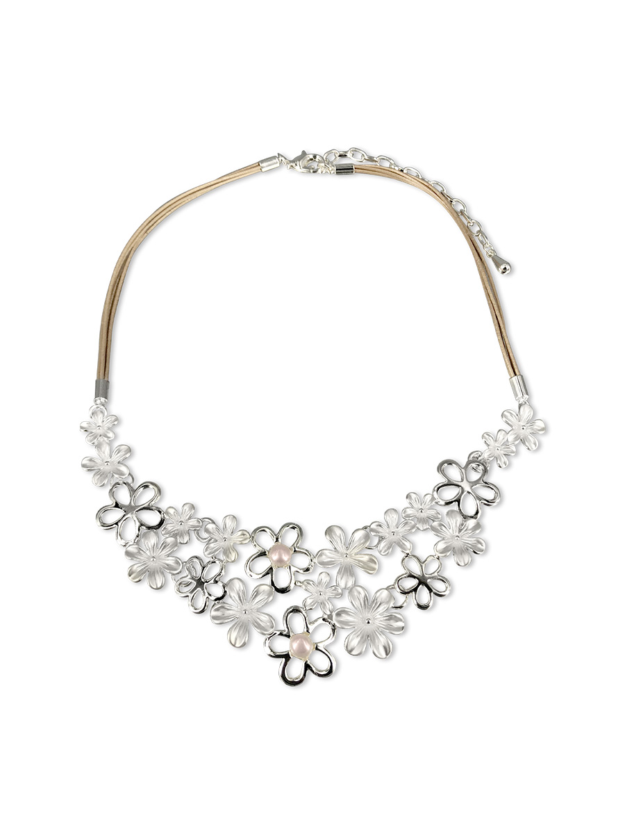 PACIFIC PEARLS WAIKIKI COLLECTION Tropical Blossom Designer Pearl Necklace