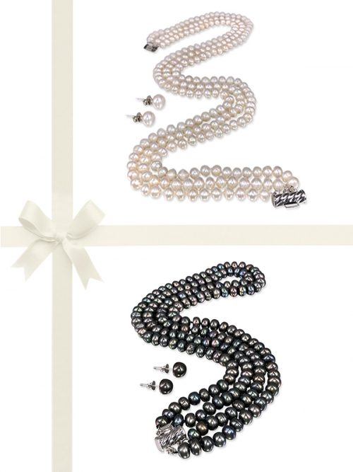 PACIFIC PEARLS TARA ISLAND COLLECTION Classic Pearl Gift Set