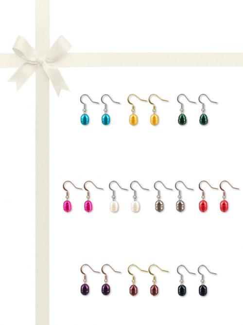 PACIFIC PEARLS RAINBOW REEF COLLECTION Ultimate 10-12mm Honey Dipper Pearl Earring Gift Set