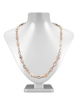 PACIFIC PEARLS SUNSHINE COAST COLLECTION 18K Rose Gold Filled Pearl & Swarovski Necklace & Bracelet Set
