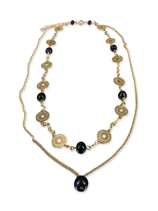 PACIFIC PEARLS SUNSHINE COAST COLLECTION Soileil 18K Yellow Gold Filled Graduated Pearl Necklace