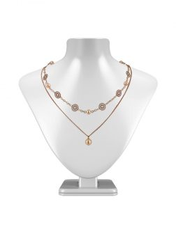 PACIFIC PEARLS SUNSHINE COAST COLLECTION Soleil 18K Rose Gold Filled Graduated Pearl Necklace