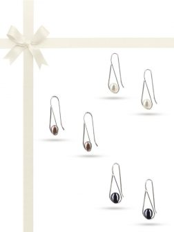 PACIFIC PEARLS NOUVELLE-CALÉDONIE COLLECTION Swing Time 925 Sterling Silver Pearl Earring Gift Set
