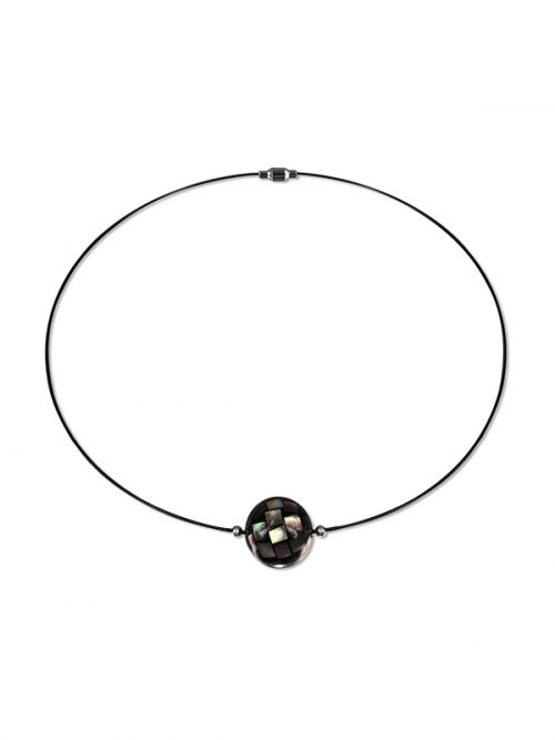 PACIFIC PEARLS SOUTH SEA COLLECTION 16mm Black South Sea Mother-of-Pearl Choker