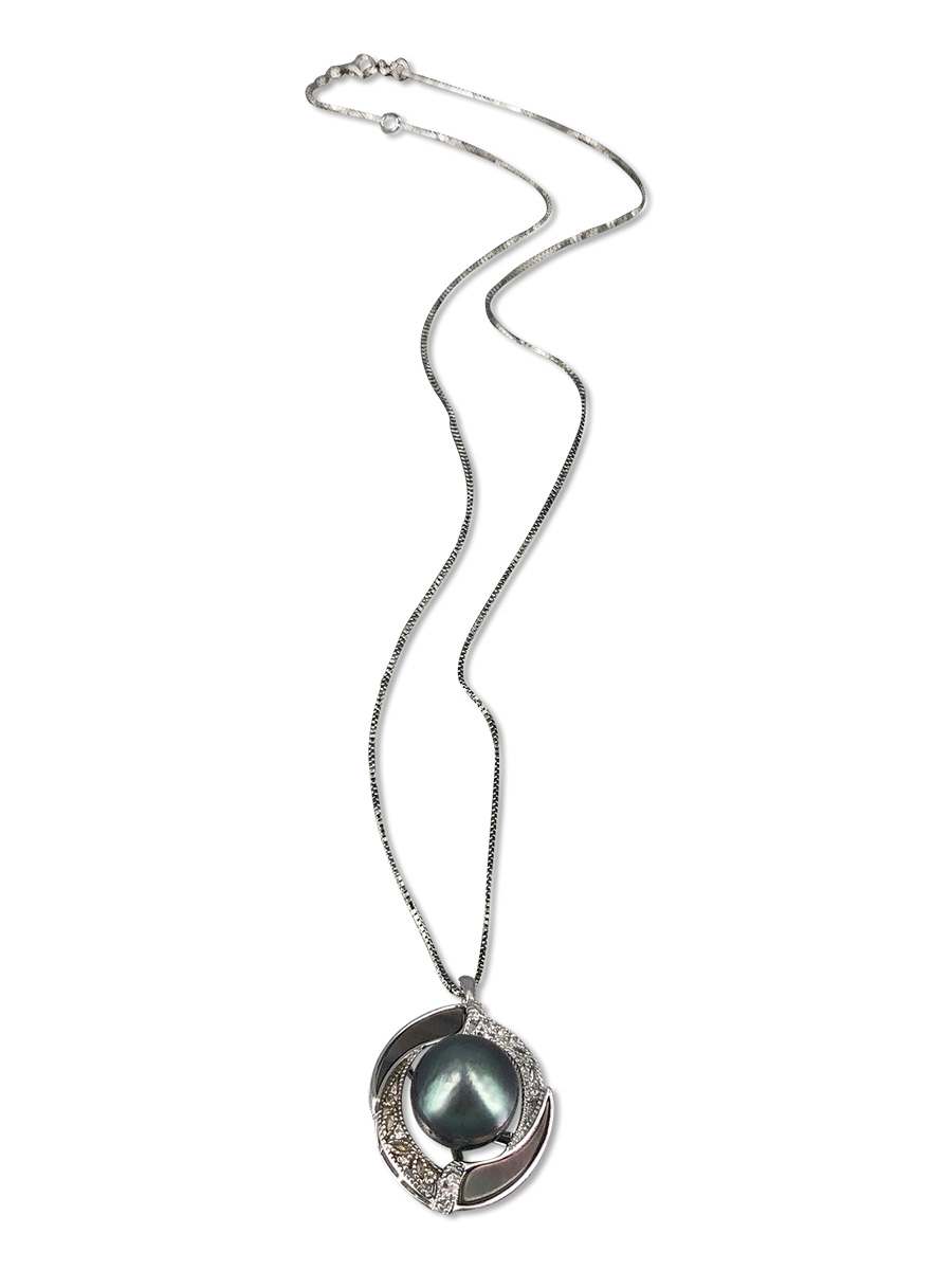 PACIFIC PEARLS TAHITIAN COLLECTION Florence 10-11mm Tahitian Pearl Pendant