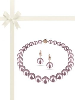 PACIFIC PEARLS VANUATU COLLECTION Jaipur Princess 13-15mm Metallic Edison Pearl Gift Set