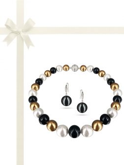 PACIFIC PEARLS VANUATU COLLECTION Midnight in Monaco 13-15mm Edison Pearl Gift Set