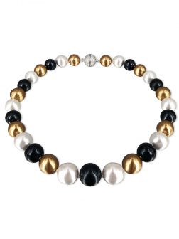 PACIFIC PEARLS VANUATU COLLECTION Midnight in Monaco 13-15mm Edison Pearl Necklace