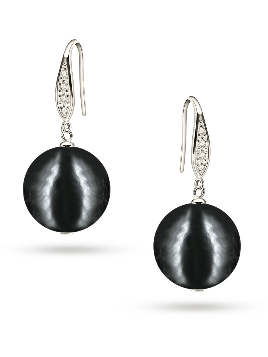 PACIFIC PEARLS VANUATU COLLECTION Midnight in Monaco 13mm Edison Pearl Earrings