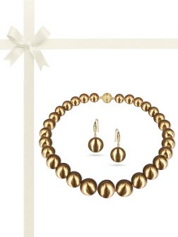 PACIFIC PEARLS VANUATU COLLECTION Mystique 13-15mm Metallic Edison Pearl Gift Set