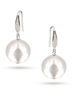 PACIFIC PEARLS VANUATU COLLECTION Pavlova 13mm Metallic Edison Pearl Earrings
