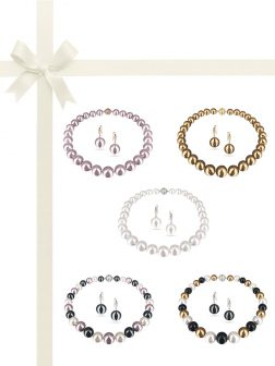 PACIFIC PEARLS VANUATU COLLECTION Ultimate 13-15mm Edison Pearl Necklace & Earring Gift Set