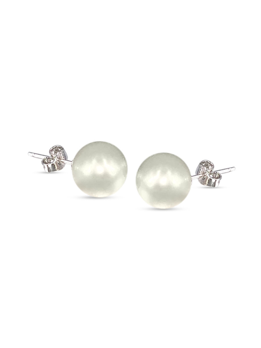 PACIFIC PEARLS VANUATU COLLECTION Chantilly Lace 11mm Pearl Stud Earrings