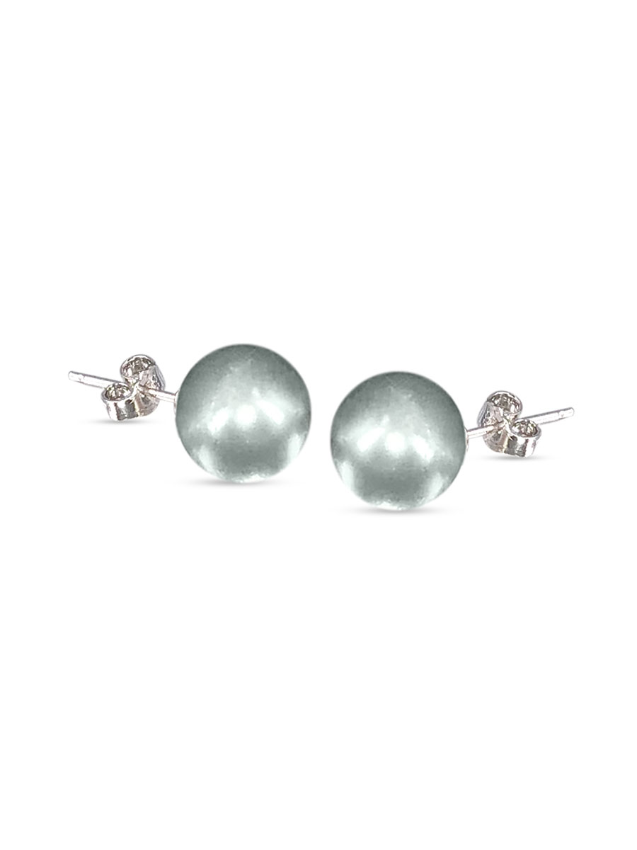 PACIFIC PEARLS VANUATU COLLECTION Mist 11mm Pearl Stud Earrings