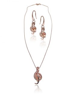 PACIFIC PEARLS BUA BAY COLLECTION Rhapsody 18K Rose Gold Diamond Pavé Pearl Locket Pendant & Earrings
