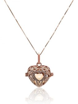 ROYAL FALLS COLLECTION En Mi Corazón 18K Rose Gold Diamond Pavé Pearl Locket Pendant