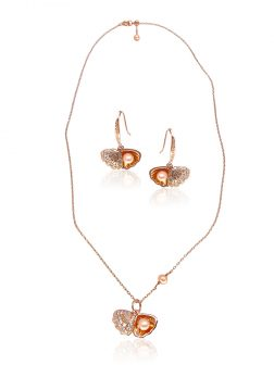 KIRIBATI COLLECTION The World Is Your Oyster 18K Rose Gold Pearl & Swarovski Set