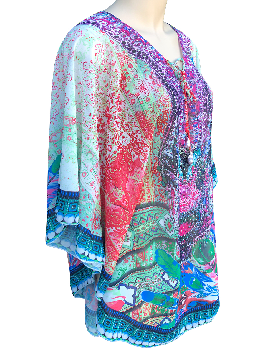 POLYNESIA COLLECTION Aruba Designer Resort Wear Tunic with 25mm Giant Baroque Pearls