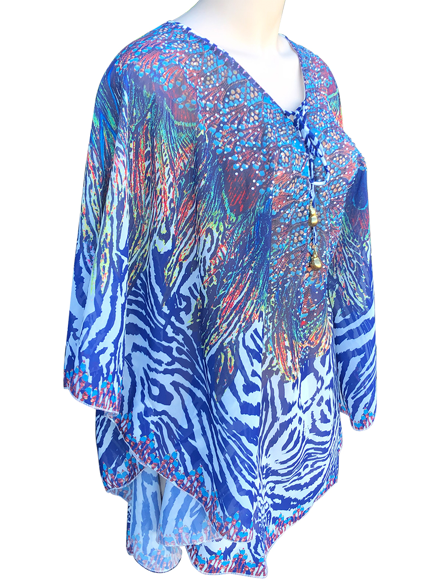 POLYNESIA COLLECTION Cape Town Designer Resort Wear Tunic with 25mm Giant Baroque Pearls