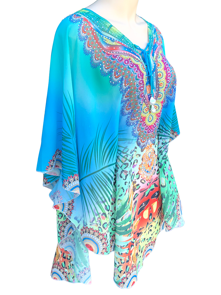 POLYNESIA COLLECTION Maldives Designer Resort Wear Tunic with 25mm Giant Baroque Pearls
