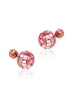 SOUTH SEA COLLECTION Rose Faceted Mother-of-Pearl Reversible Stud Earrings