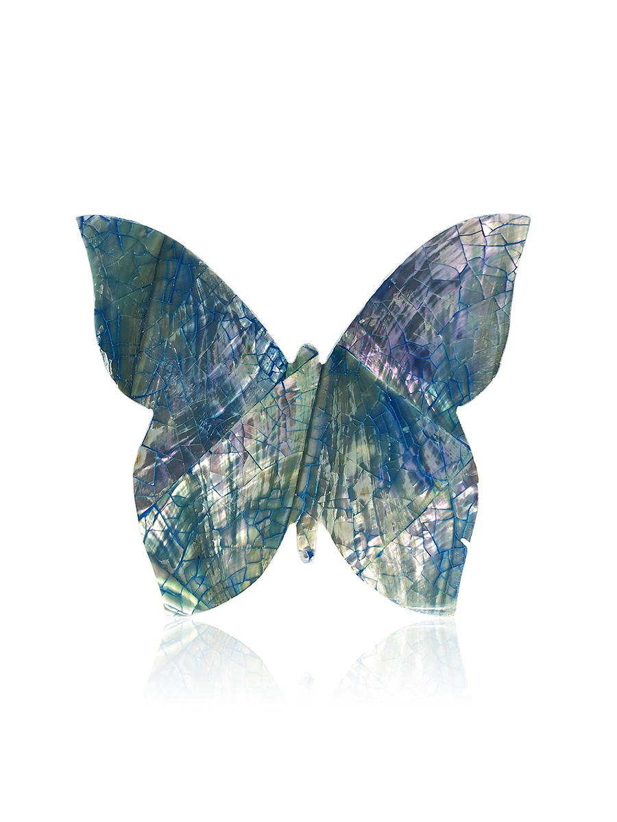 KIRIBATI COLLECTION Bejeweled Butterfly Blue Abalone Forever Greeting Card
