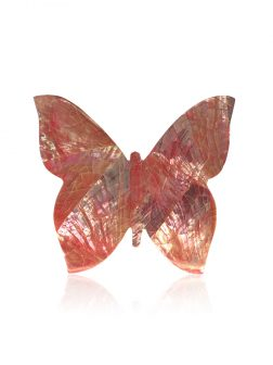 KIRIBATI COLLECTION Bejeweled Butterfly Pink Abalone Forever Greeting Card