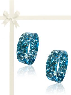 NOUVELLE-CALÉDONIE COLLECTION Blue Abalone Gift Set of 2 Stackable Bangles
