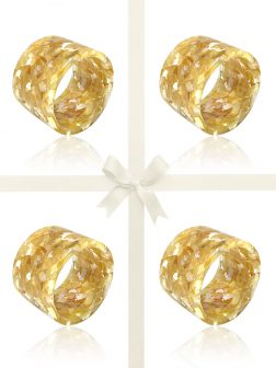 NOUVELLE-CALÉDONIE COLLECTION Golden South Sea Mother-of-Pearl Gift Set of 4 Napkin Rings