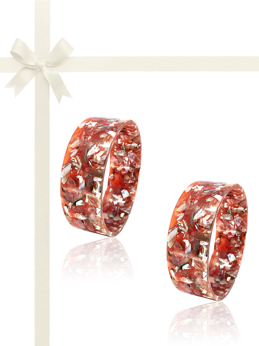 NOUVELLE-CALÉDONIE COLLECTION Pink Abalone Gift Set of 2 Stackable Bangles